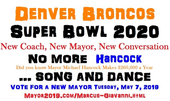 Marcus Giavanni predicts City and County Denver Broncos Super Bowl 2020